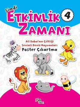 Şimdi Etkinlik Zamanı 4 - Bakarak Boya – Ali Baba'nın Çiftliği – Sevimli Deniz Hayvanları Poster Çıkartma
